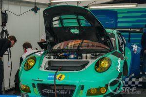 """Porsche 911 R GT3 """"Falken Motorsport"""" im Fahrerlager, ADAC Zurich 24h Rennen Nürburgring"""