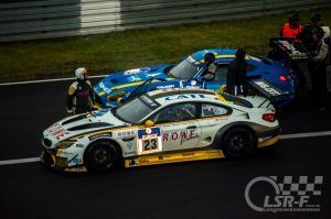 BMW M6 GT3 Rowe Racing vs. Mercedes AMG GT3 Black Falcon, ADAC Zurich 24h Rennen 2016