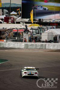Bentley Continental GT3 vor der Mercedestribüne, ADAC Zurich 24h Rennen