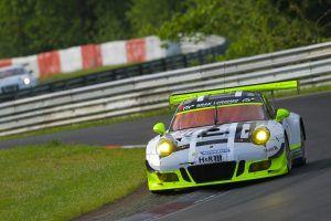 VLN Langstreckenmeisterschaft Nuerburgring 2016, 58. ADAC ACAS H&R-Cup (2016-05-14): Earl Bamber, Nick Tandy (Porsche 911 GT3 R). Foto: Jan Brucke/VLN