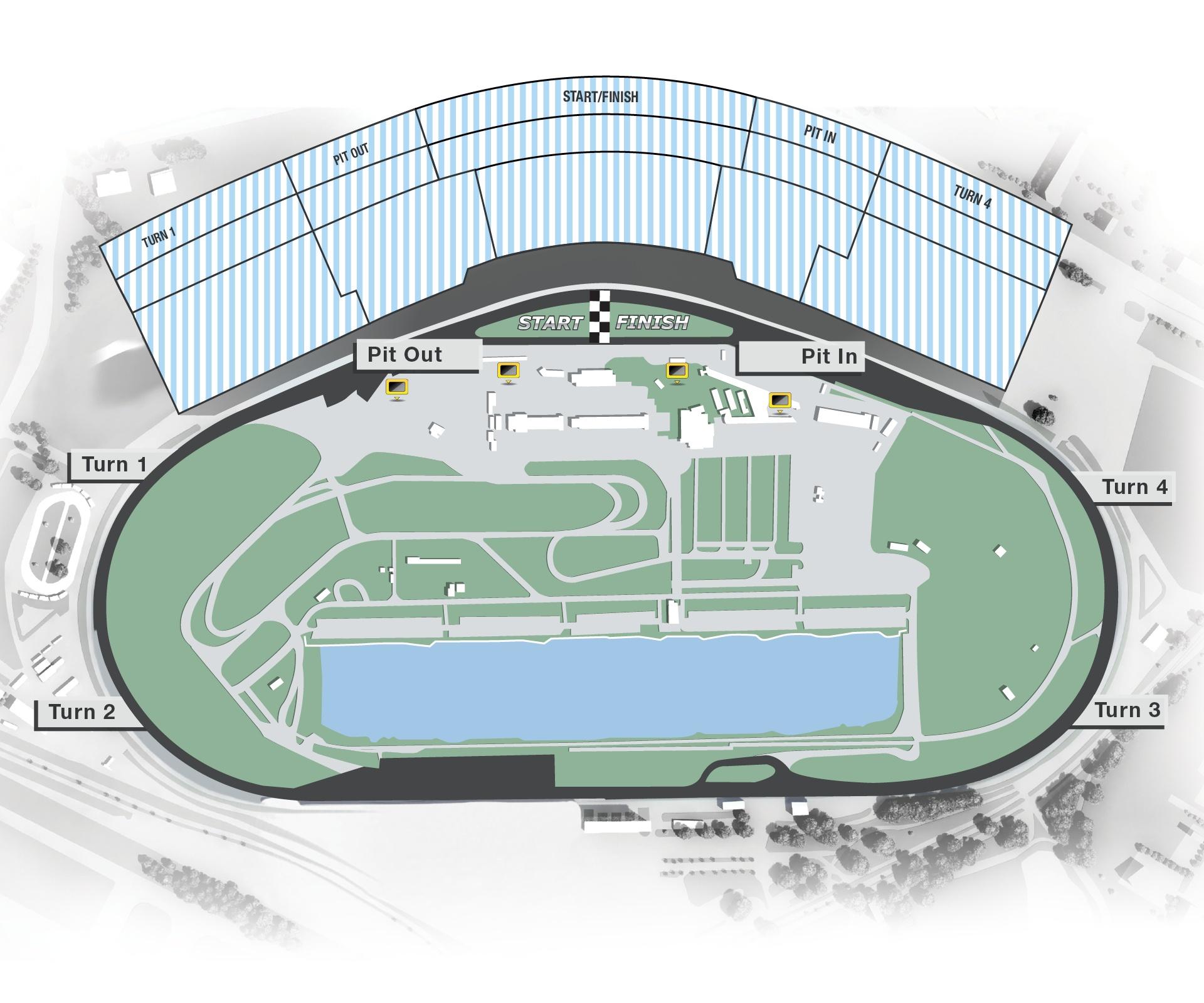 Infield und Stadium Karte Rolex 24h von Daytona