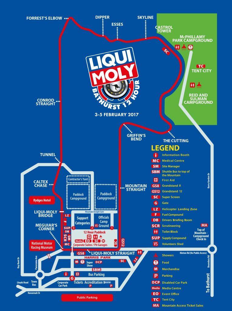 Liqui Moly Bathurst 12 Hours Übersichtskarte