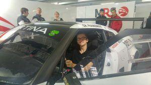 Das bin ich beim ADAC GT-Masters im Molitor Racing Nissan GT3