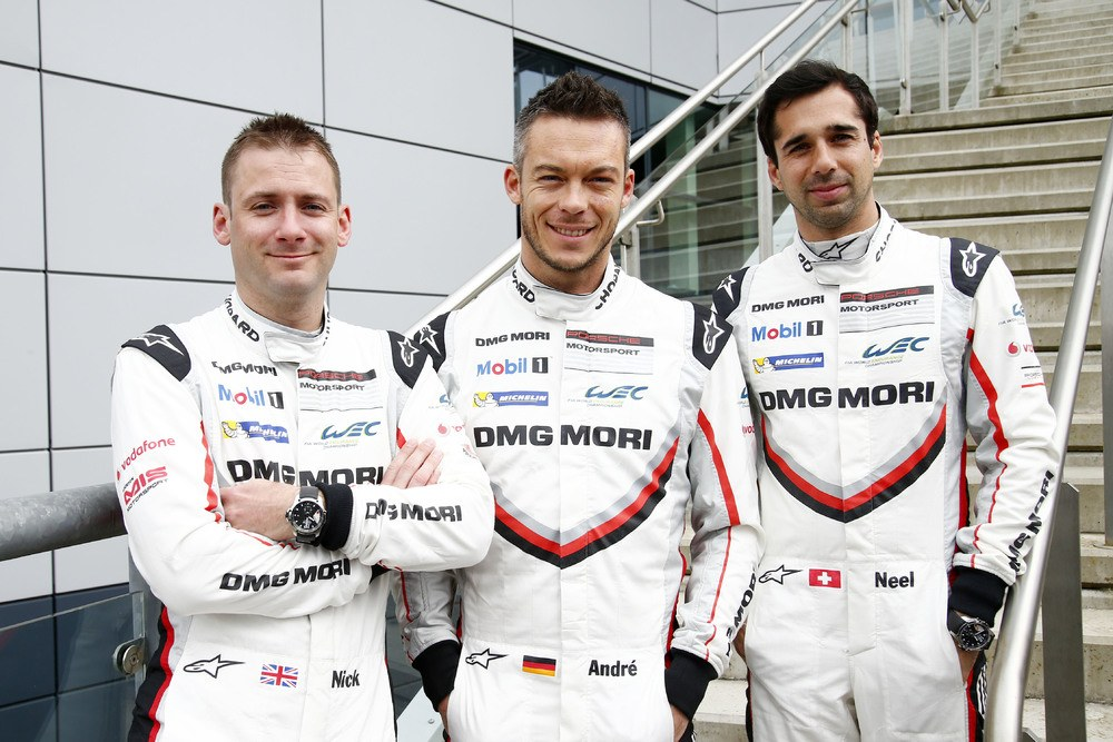 Porsche LMP Team (1): Nick Tandy, Andre Lotterer, Neel Jani (l-r)