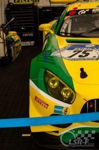 Mercedes AMG GT3 Zakspeed im Fahrerlager, ADAC Zurich 24h Rennen Nürburgring